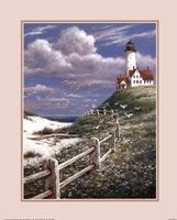 Lighthouse With Fence Fine-Art Print