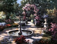Garden Fountain Fine-Art Print