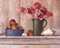 Poppies, Peaches And Shells Fine-Art Print