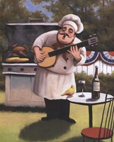 Barbecue Chef - Banjo Fine-Art Print