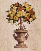 Yellow And Orange Rose Topiary Fine-Art Print