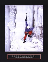 Determination - Ice Climber Framed Print
