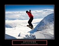Attitude - Snow Boarder Fine-Art Print