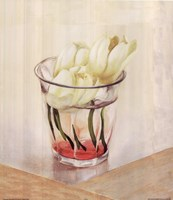 White Flowers In Glass Fine-Art Print