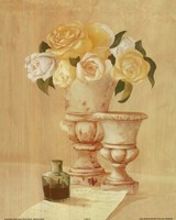 White Flowers In Vase Fine-Art Print