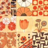 Orange Floral Montage Fine-Art Print