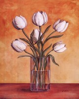 White Tulips In Vase (vertical) Fine-Art Print