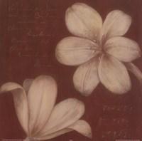 Tan Flowers I Fine-Art Print