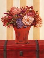Flowers In Vase On Trunk Fine-Art Print