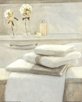 Towels Flowers On Shelf Fine-Art Print