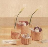Soaps Towels In Baskets Fine-Art Print