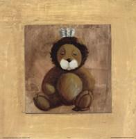 Lion With Blue Bow Fine-Art Print