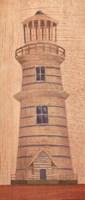 Blue Striped Lighthouse Fine-Art Print