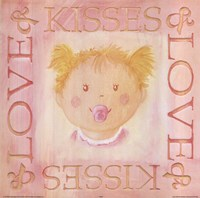 Loves Kisses - Girl Fine-Art Print