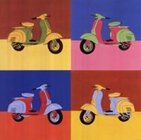 Four Motor Scooters Fine-Art Print