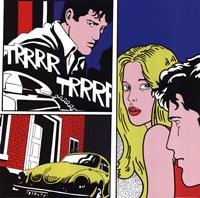 Men, Woman, Volkswagon Bug Fine-Art Print