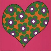 Green Flowered Heart Fine-Art Print