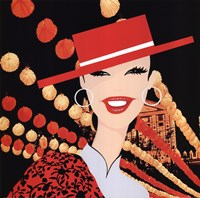 Girl With Orange Hat Fine-Art Print