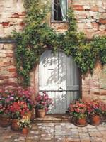 Wooden Doorway, Siena Fine-Art Print