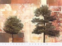 Parchment Trees I Fine-Art Print