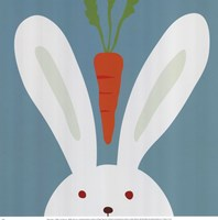 Peek-A-Boo I Rabbit Framed Print