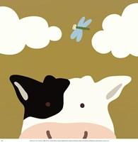 Peek-A-Boo III Cow Framed Print