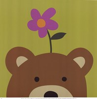 Peek-A-Boo VI Bear Framed Print