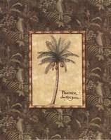 Vintage Palm II - Mini Fine-Art Print