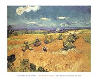 Harvest in Provence of Wheat Field with Sheaves, c.1888 Fine-Art Print