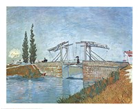 The Langlois Drawbridge at Arles, c.1888 Fine-Art Print