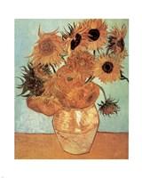 Vase with Twelve Sunflowers, c.1888 Fine-Art Print