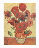 Vase with Fifteen Sunflowers, c.1888 Fine-Art Print