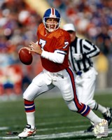 John Elway Orange Uniform Action Fine-Art Print
