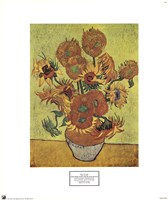 Vase with Fifteen Sunflowers, c.1888 Fine-Art Print