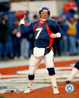 John Elway - Passing Action Fine-Art Print