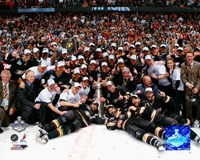 2007 - Ducks Stanley Cup Celebration On Ice Fine-Art Print