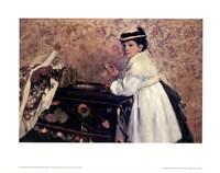 Portrait of Mademoiselle Hortense Valpin Fine-Art Print