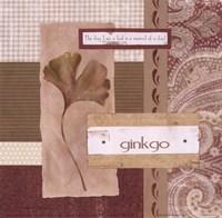 Scrapbook Gingko Leaf Fine-Art Print