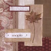 Scrapbook Maple Leaf Fine-Art Print