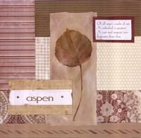 Scrapbook Aspen Leaf Fine-Art Print