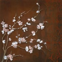 Cherry Blossoms on Cinnabar II Fine-Art Print