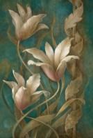 Tulips on Teal Fine-Art Print
