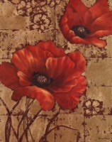 Poppies on Gold I Fine-Art Print