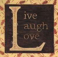 Live Laugh Love - Border Framed Print