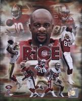 Jerry Rice - Legends Composite Fine-Art Print