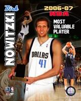 Dirk Nowitzski - 2007 NBA M.V.P. / Portrait Plus Fine-Art Print