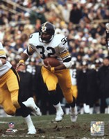 Franco Harris - Running With Ball Fine-Art Print