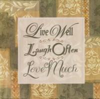 Live Well … Fine-Art Print