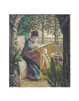 Madame Monet Embroidering, c.1875 Fine-Art Print