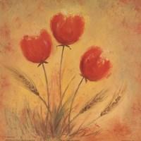 Orange Tulips and Wheat Fine-Art Print